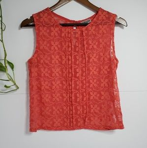 Nordstrom Chelsea 28 embroidered red tank XS